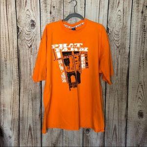 🌕4/$15🌕 VTG Phat Farm Orange Graphic Shirt XL